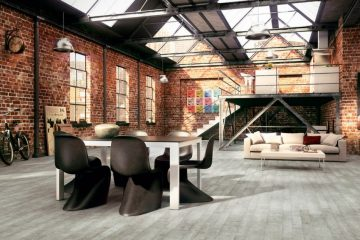 industrieel interieur