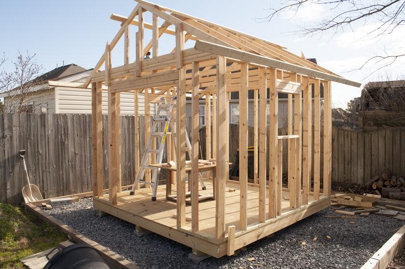 zelf een houten schuur bouwen