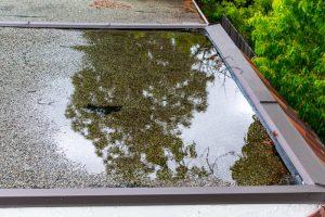 water op plat dak